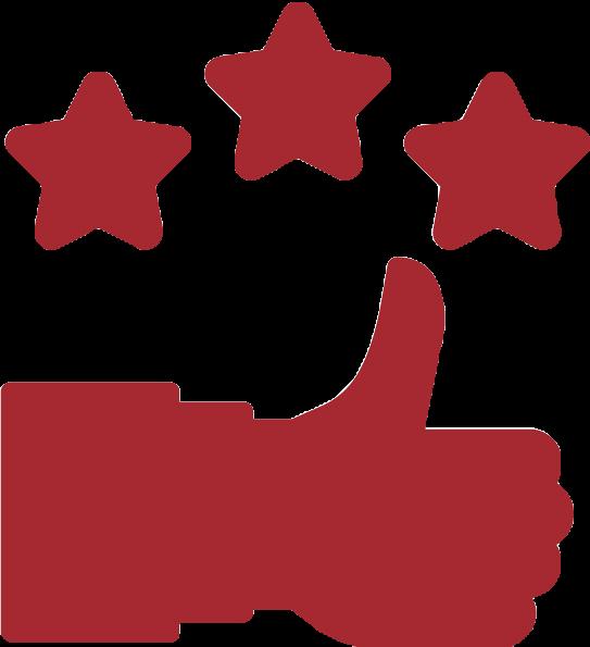 Icon mit Daumen hoch für über 1000 Zufriedene Kunden