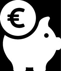 """Icon mit einem Sparschwein für """"Faire Preise"""""""